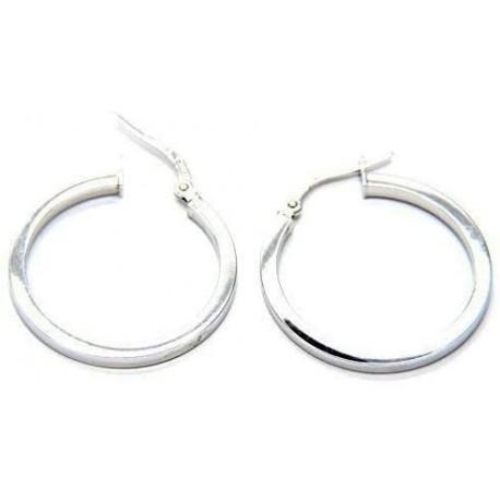 orecchini donna a cerchio oro bianco