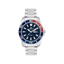 LORENZ SPORT Men's Watch 26116DD Blue Red Steel Bracelet