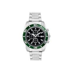 Montre Homme Lorenz Chronograph Sport Black Green 026117EE