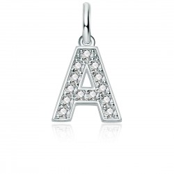 Charms customizable sterling silver 925 and zirconia white