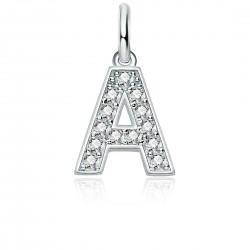 Charm personalizzabile in argento 925 e zirconi bianchi