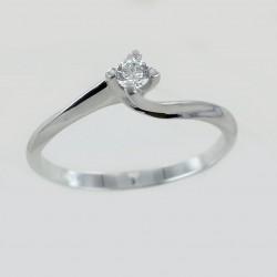 Petite bague solitaire avec diamant serti Valentine 0.16 carat 00218