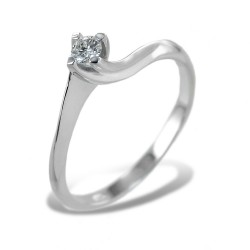 Kleiner Solitärring mit Diamant zum Valentinstag 0,11 Karat 00222