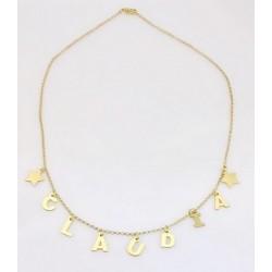 Collana Mamy-Jò personalizzabile con lettere pendenti in argento 925