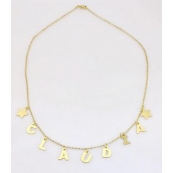Necklace Mamy-Jò customizable with letters pendants in silver 925