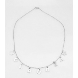 Necklace customizable silver on silver 925