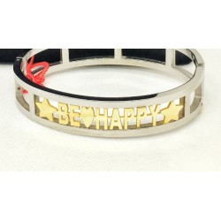 Armband handcuff Mamy-Jò in silber 925 silber und gold
