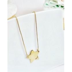 Halskette Mamy-Jò mit stern 925 silber gold