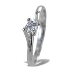 Anello solitario medio con diamante montatura Valentine intreccio 0.22 ct 00224