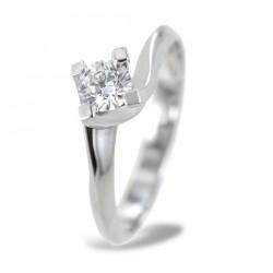 Mittlerer Solitärring mit Valentine-Diamant 0,33 Karat 00226