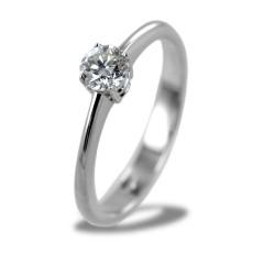 Mittlerer Solitärring mit 0,35 Karat Diamant 00230