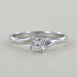 Anello solitario medio con diamante montatura Valentine intreccio 0.29 ct 00231