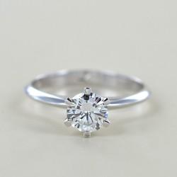 Bague couronne solitaire avec diamant de plus d'un demi-carat 0,68 00233