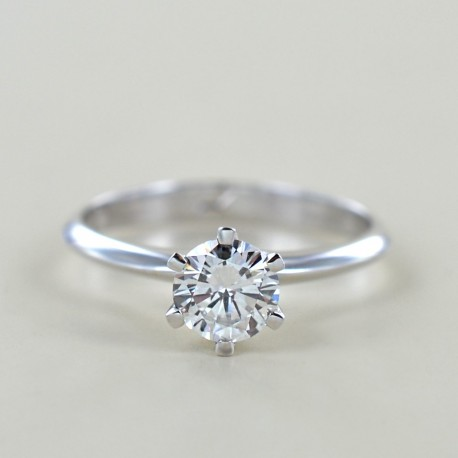 Solitaire Crown Ring with diamond over half a carat 0.68 00233