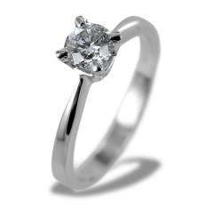 GIA-zertifizierter Solitärring 0,51 Karat Diamant 00235