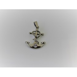 Charm still in 925 sterling silver and zircon