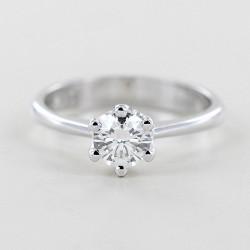 Grande bague solitaire 6 griffes avec diamant demi-carat 0,56 carat 00238