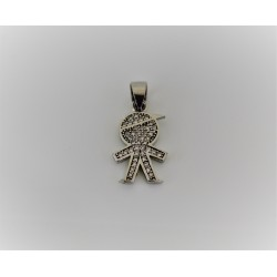 Charm child silver 925 and zircon