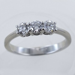 Medium Trilogy ring with diamonds over half a carat 0.60 ct 00247