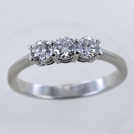 Medium Trilogy ring with diamonds over half a carat 0.60 ct 00247