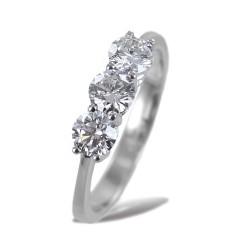 Grande bague Trilogy avec diamants 0,90 ct 00248