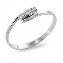 Kleiner Trilogie-Ring mit Diamanten 0.05 00252