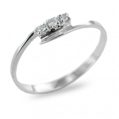 Small Trilogy ring with diamonds 0.05 00252