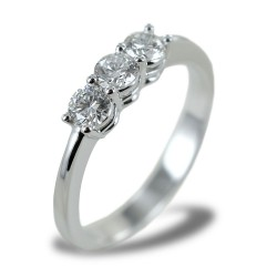 Large Trilogy ring with diamonds over half a carat 00257