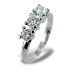 Large Trilogy ring with nearly one carat diamonds 00258
