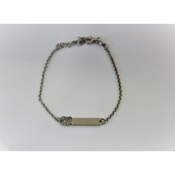 Armband für mädchen, silber 925 und zirkonia personalisierbaren etikett