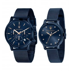 Maserati Blue Edition man and woman watches R8853141003