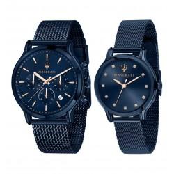 Maserati Blue Edition Mann und Frau Uhren R8853141003