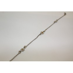 Anklet with daisies in 925 sterling silver