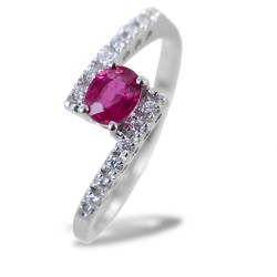 Fantasy ring intertwined with Diamonds and Ruby 00264