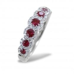 Riviera Ring der Rubine und Umriss der Diamanten Jeera Gioielli Raaja 00268