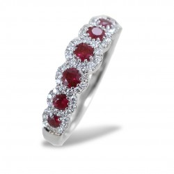 Riviera ring of Rubies and outline of Diamonds Jeera Gioielli Raaja 00268
