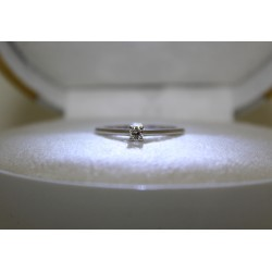 Solitaire ring gold 18 kt und diamanten
