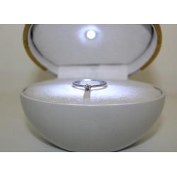 Пасьянс кольцо 18 kt золота и бриллиантом 0,11 ct