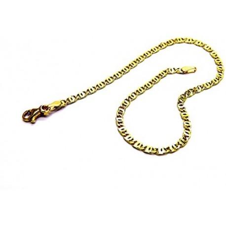Bracciale catena pieno lucido con maglia tigre BR752G