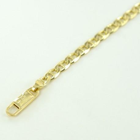 Bracelet chaîne complète avec maillon croisé creux BR755G