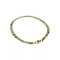 Full chain bracelet with half shiny and half dotted tiger link BR756BG
