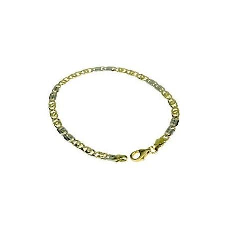 Bracelet chaîne complète avec maillon tigre mi-brillant et mi-point BR756BG