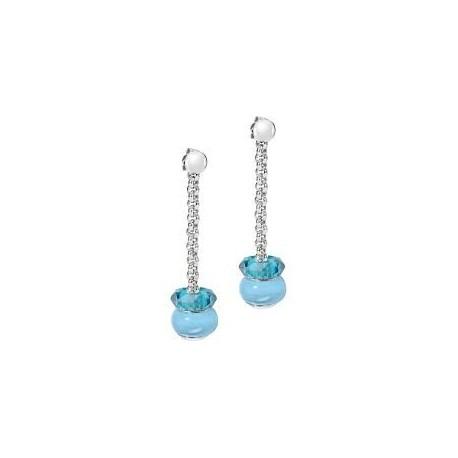 Boucles d'oreilles pendantes femme Morellato avec cristaux bleus SCZ414