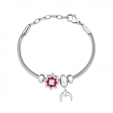 Morellato women's steel bracelet with star and half moon pendants SCZ1001