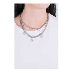 Liu Jo long necklace with double round LJ1299