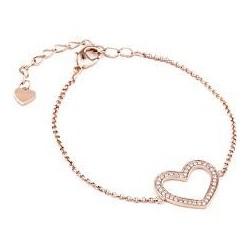 Liu Jo women's bracelet in steel heart with zircons LJ1014