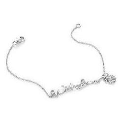 Liu Jo women's bracelet in silver with written with love ALJ014