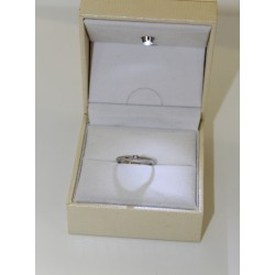 Solitaire ring gold 18 kt und diamanten 0,04 ct