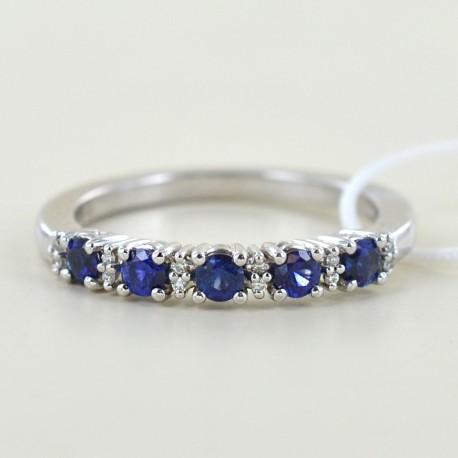 Riviera Ring mit Saphiren und abwechselnden Diamanten 00282