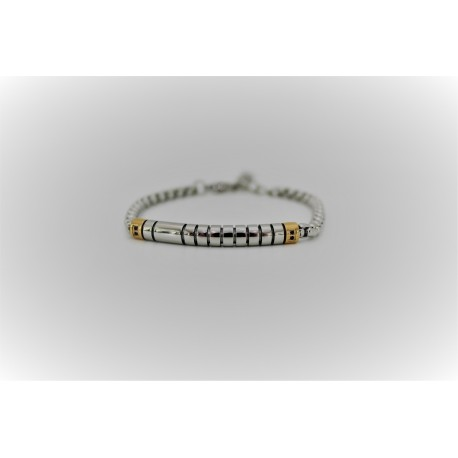 Bracelet man silver and gold